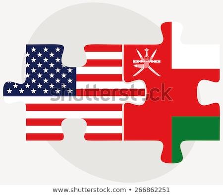 флаг · Оман · карта · фон · знак · зеленый - Сток-фото © istanbul2009