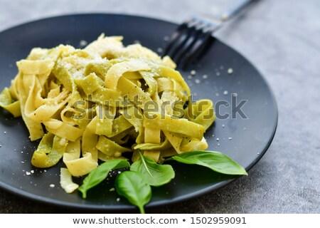 Background of freshly made fettuccine pasta Stock photo © ozgur