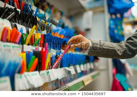 Materiały biurowe sklep eps pliku Zdjęcia stock © Voysla