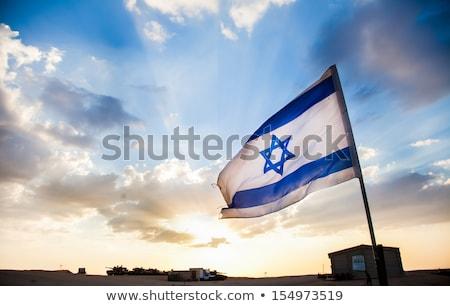 Emberek zászló Izrael izolált fehér tömeg Stock fotó © MikhailMishchenko
