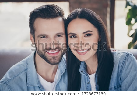 Passionate young brunette Stock photo © acidgrey