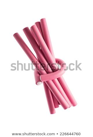 pink foam hair curlers Stock photo © JamiRae