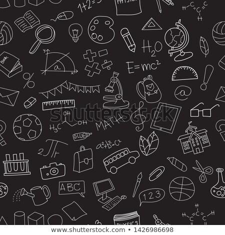 science · éducation · objets · blanche · style - photo stock © vectorikart