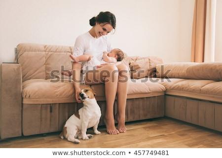 Сток-фото: матери · собака · очистки · ребенка · лице