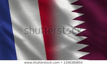 Francja Katar flagi puzzle odizolowany biały Zdjęcia stock © Istanbul2009