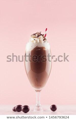 какао белый фон завтрак горячей Сток-фото © HASLOO