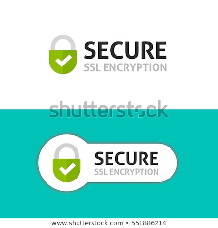 SSL Protected Green Vector Icon Design Stock photo © rizwanali3d