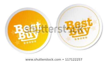 top quality yellow vector icon button stock photo © rizwanali3d