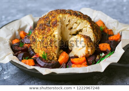 Whole head of roasted cauliflower. Stock photo © rojoimages