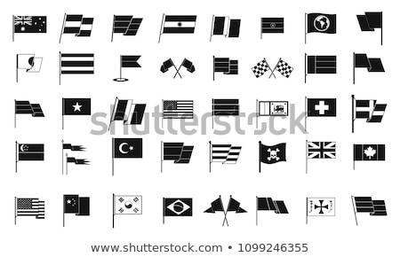 Ikona banderą Bułgaria odizolowany biały kraju Zdjęcia stock © MikhailMishchenko