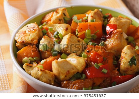 frango · em · batata · comida · jantar - foto stock © digifoodstock