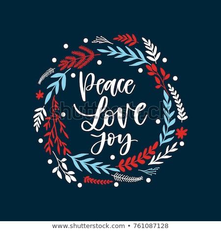 Vrede tekst hippie helling teken Stockfoto © x7vector