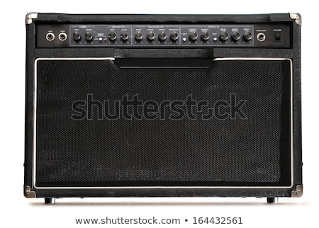 black musical guitar amplifier panel stock photo © your_lucky_photo