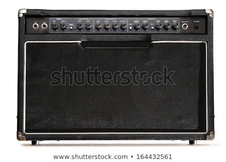 Siyah müzikal gitar panel madeni parlak Stok fotoğraf © your_lucky_photo