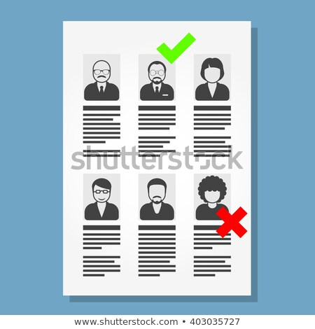 Job placement and hiring people - list of cv files Stock photo © Winner