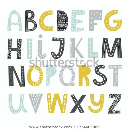 Decorativo alfabeto vetor fonte carta tipo Foto stock © MyosotisRock