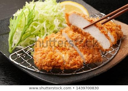 serpenyő · pörkölt · disznóhús · étel · hús · stúdió - stock fotó © digifoodstock