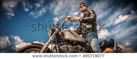 男 ブーツ 着用 サングラス 座って ストックフォト © feedough