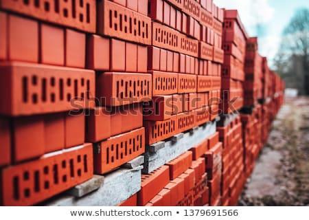 кирпича · изолированный · белый · здании · строительство · кирпичных - Сток-фото © papa1266