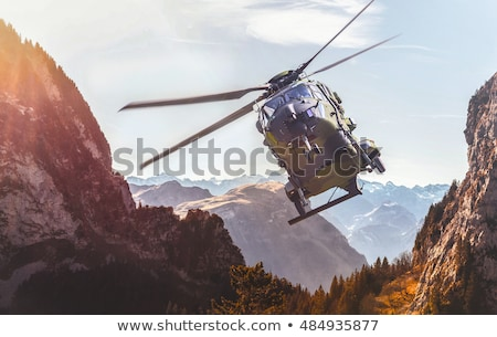 military helicopter in the sky stock photo © mayboro1964
