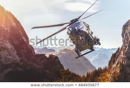 военных вертолета небе Flying закат фон Сток-фото © mayboro1964