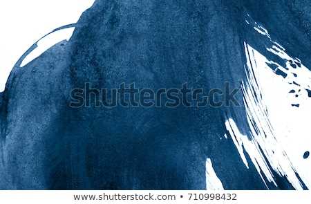 Dripping blue on white Stock photo © Anterovium