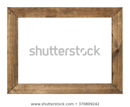 木材 フレーム 孤立した 白 壁 デザイン ストックフォト © plasticrobot
