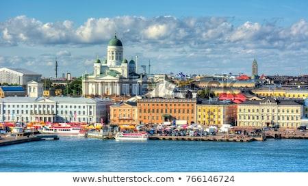 Beautiful Finnish capital Helsinki summer skyline view with sain Stock photo © Perszing1982