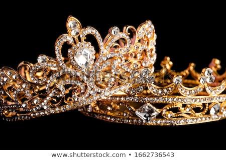 tiare · pierres · diamants · illustration · couronne · mariage - photo stock © karamio