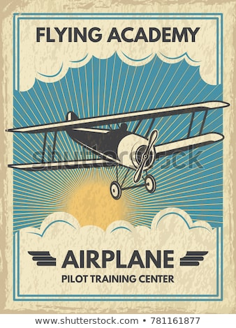 Aviation rétro affiche stylisé air transport Photo stock © tracer