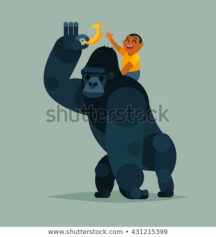 gorilla with child Stock photo © adrenalina