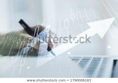 éxito texto bloc de notas mano calculadora futuro Foto stock © fuzzbones0