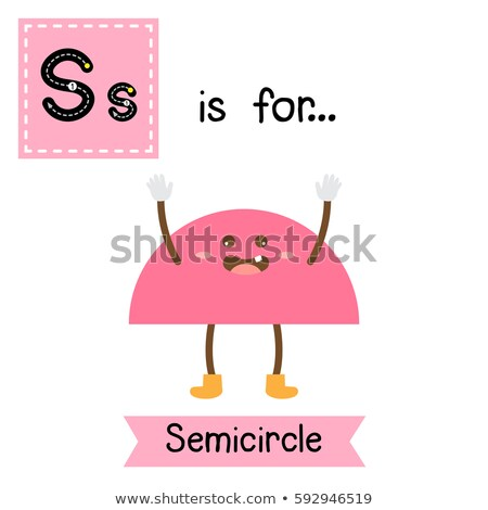 Flashcard letter S is for semicircle Stock photo © bluering