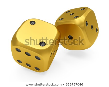 Two red game dices. 3D Stock photo © djmilic