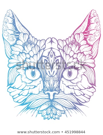 stylized persian cat stock photo © blackmoon979