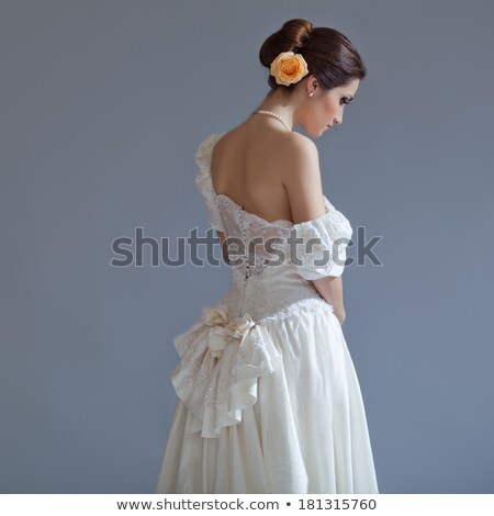 young gentle bride looking away stock photo © dariazu