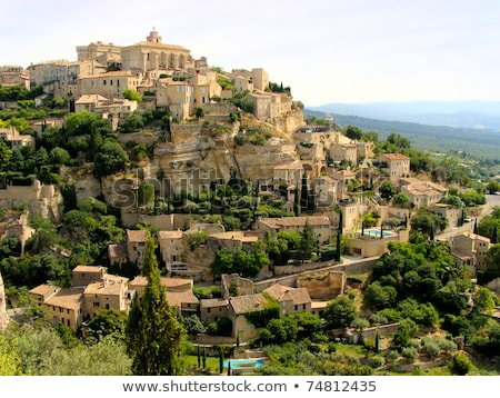 Gordes historical hilltop town, Provence, France Stock photo © Xantana
