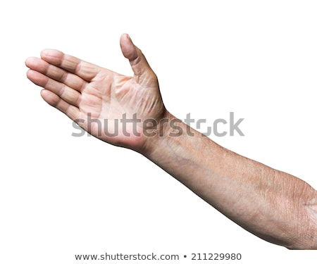 Farmer with arm out in a welcoming gesture. Stock photo © RAStudio