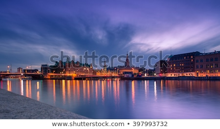 bourse · bâtiment · nuit · 22 · 2016 · vieux - photo stock © oliverfoerstner