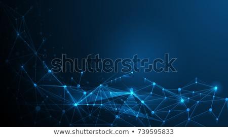 Photo stock: Résumé · bleu · géométrique · technologie · vecteur · triangle