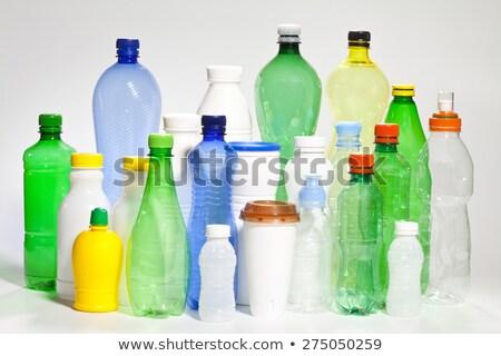 три · пластиковых · красочный · зеленый · синий · нефть - Сток-фото © dezign56