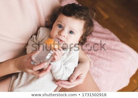 Toddler boy drinking Stock photo © sapegina
