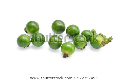 Pile of green peppercorn isolated over the white background Stock photo © ivo_13