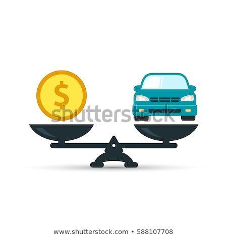 Mérleg vektor ikon illusztráció stílus ikonikus Stock fotó © ahasoft