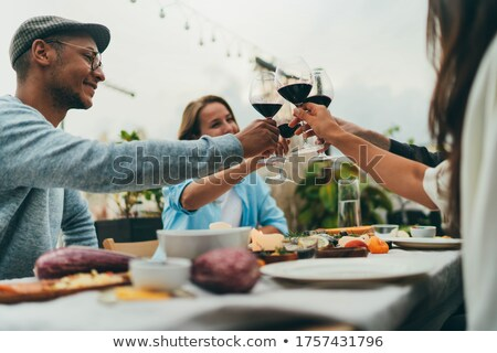 People toasting their glasses Stock photo © IS2