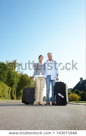 érett pár égbolt család út férfi Stock fotó © IS2