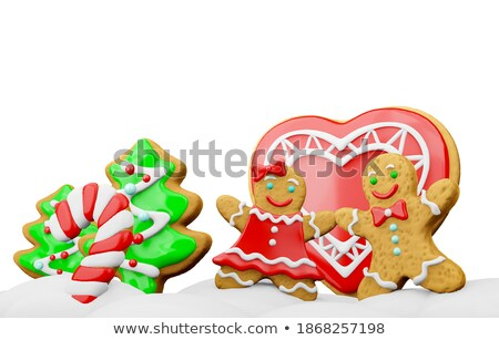 Stock photo: couple with christmas decorative candy