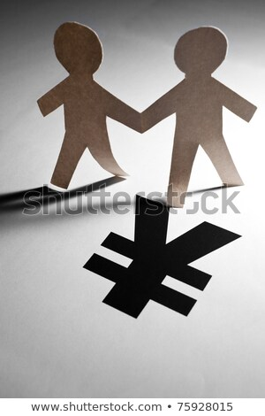 Chinese Yuan Sign and Paper Chain Men Stock photo © devon