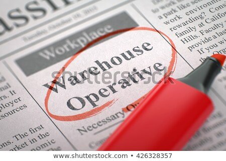 Emploi · ouverture · commerciaux · faible · publicité · journal - photo stock © tashatuvango