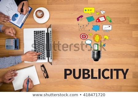 Keyboard with Blue Button - Publicity Campaign. Stock photo © tashatuvango